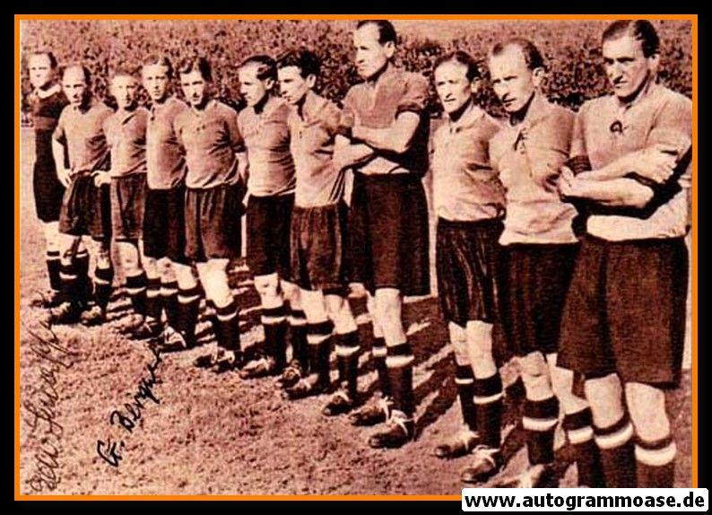 Mannschaftsfoto Fussball | 1. FC Nürnberg | 1948 + 3 AG (Mirsberger, Schaffer, Schober)