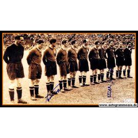 Mannschaftsfoto Fussball   1. FC Nürnberg   1951 + 2 AG (Mirsberger, Sippel)