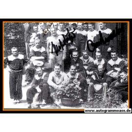 Mannschaftskarte Fussball | DFB | 1950er + 3 AG (Biesinger, O. Walter, Schäfer) Hotel