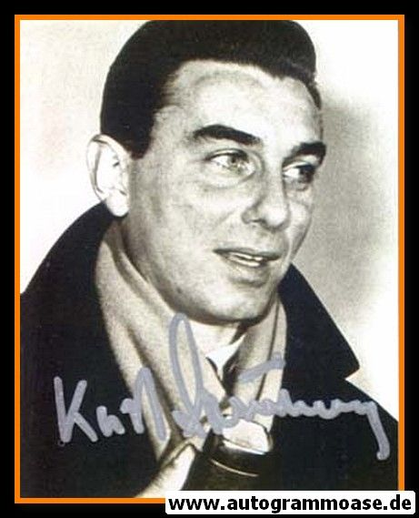 Autogramm TV   Kurt BRUMME   1950er Foto (Portrait SW)