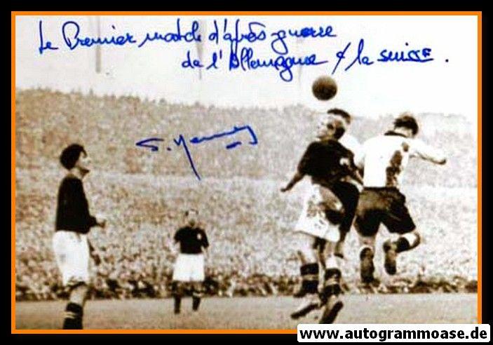 Autogramm Fussball | Schweiz | 1950 | Willy KERNEN (Spielszene DFB)