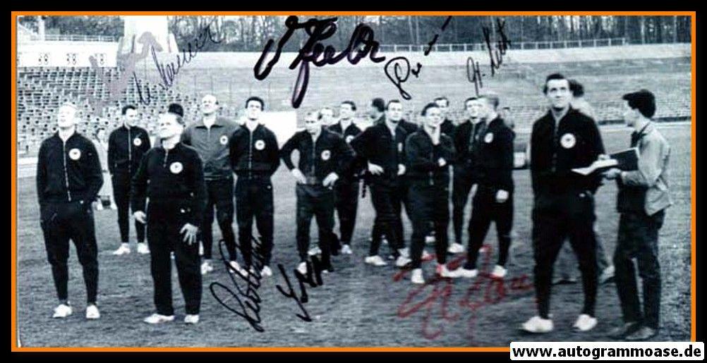 Autogramme Fussball   DFB   1961 Foto   8 AG (Training Herberger)