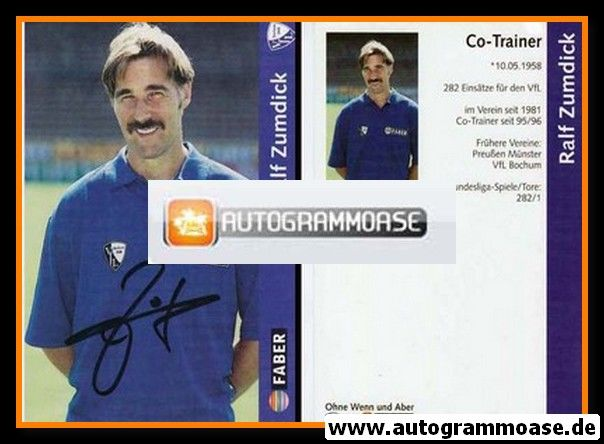 Autogramm Fussball | VfL Bochum | 1997 | Ralf ZUMDICK