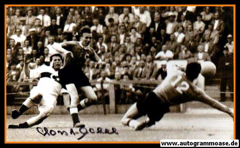 Autogramm Fussball | DFB | 1954 WM Foto | Horst ECKEL (Spielszene Türkei)