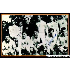 Mannschaftsfoto Fussball   Tschechien   1958 WM + 3 AG (Adamec, Masopust, Schrojf) Mexiko