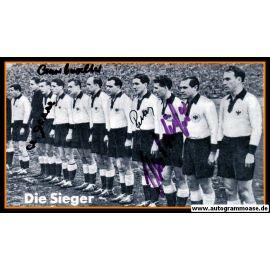 Mannschaftsfoto Fussball | DFB | 1952 + 4 AG (Eckel, Retter, Schäfer, O. Walter) Schweiz 1