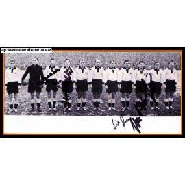 Mannschaftsfoto Fussball   DFB   1952 + 4 AG (Eckel, Retter, Schäfer, O. Walter) Schweiz 2