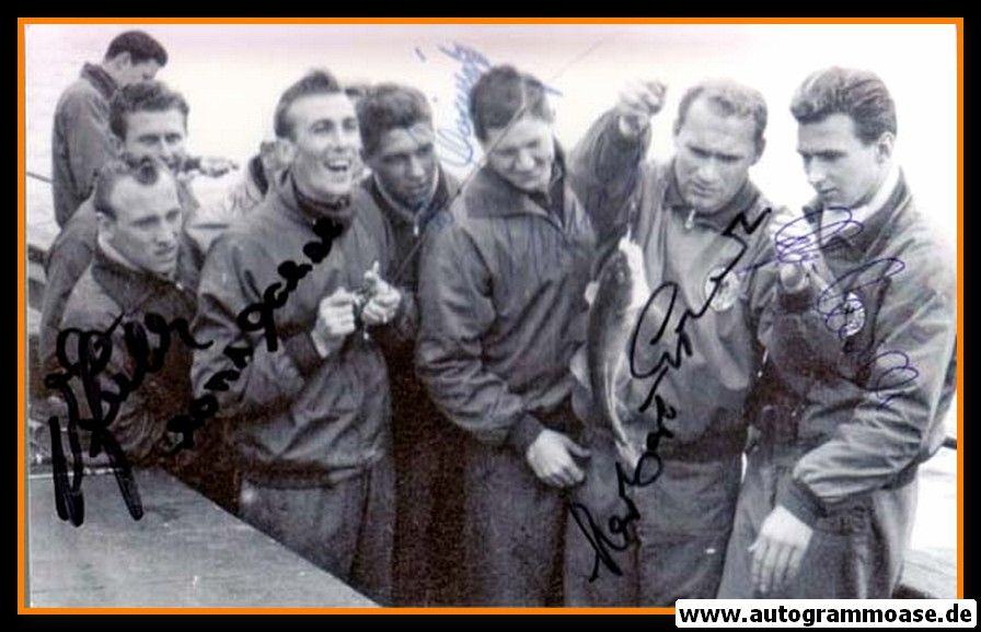 Autogramme Fussball | DFB | 1958 WM Foto | GRUPPENBILD + 6 AG