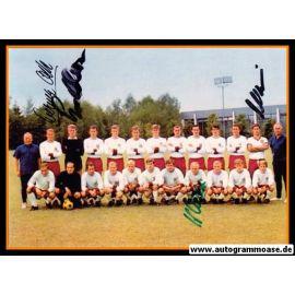 Mannschaftsfoto Fussball   FC Bayern München   1960er + 4 AG (Maier, Müller, Olk, Schmidt)