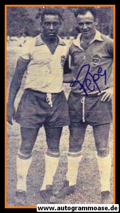 Autogramm Fussball   Brasilien   1950er Foto   PEPE (Portrait SW mit Pele)
