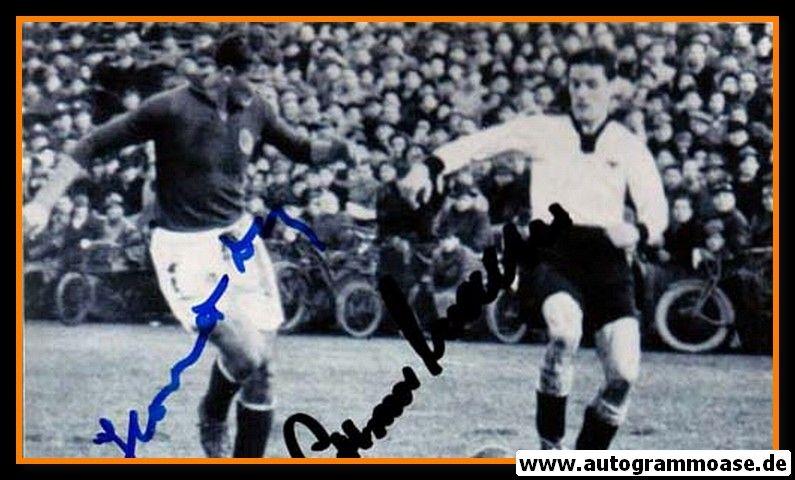 Autogramme Fussball | DFB + Jugoslawien | 1952 Foto | HORVAT + O. WALTER (Spielszene SW)
