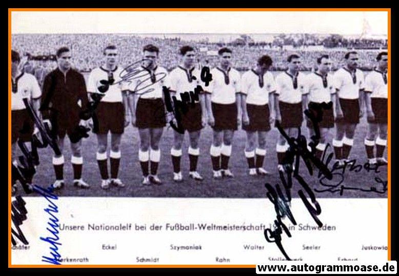Mannschaftsfoto Fussball   DFB   1958 + 8 AG (Argentinien)