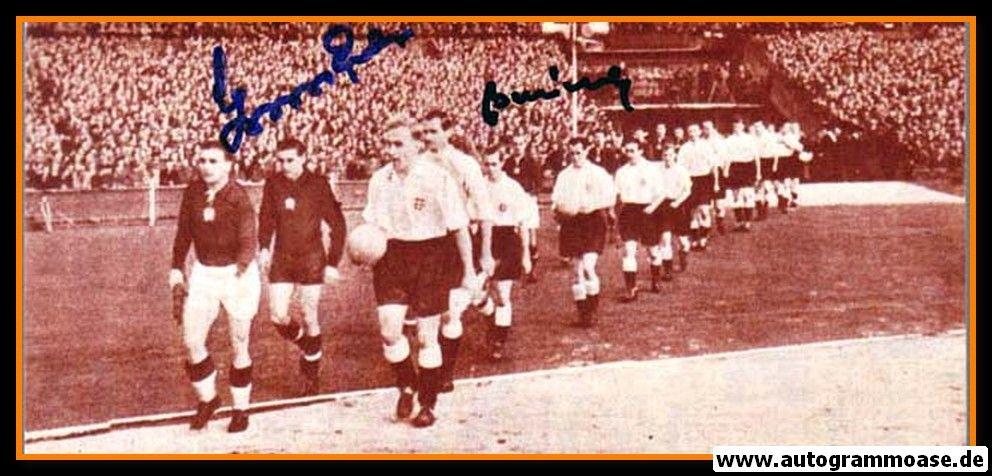 Autogramme Fussball   Ungarn   1953 Foto   GROSICS + BUZANSKY (Einlauf England)