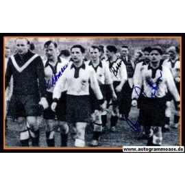 Autogramme Fussball | DFB | 1952 Foto | 3 AG (Ehrmann, Retter, Zeitler) Luxemburg