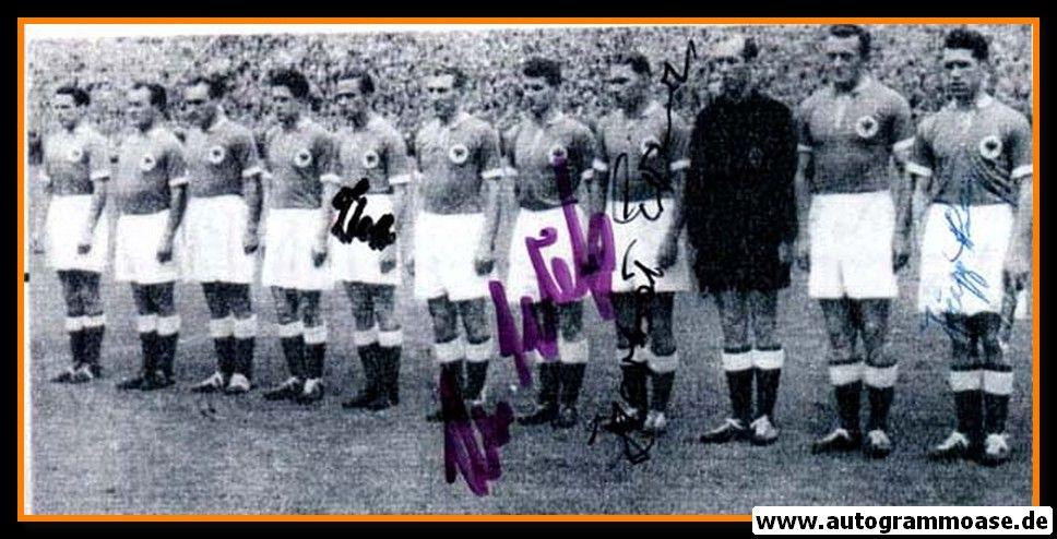 Mannschaftsfoto Fussball   DFB   1953 + 4 AG (Erhardt, Pfaff, Röhrig, Schäfer) Amateure Spanien