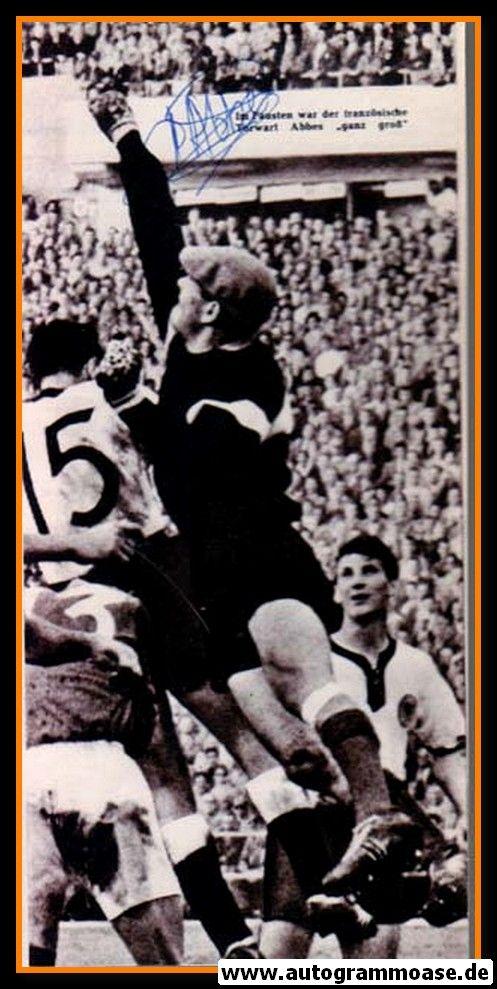 Autogramm Fussball | Frankreich | 1958 WM Foto | Claude ABBES (Spielszene DFB) 3