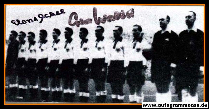 Mannschaftsfoto Fussball | DFB | 1953 + 2 AG (ECKEL + O. WALTER) Norwegen