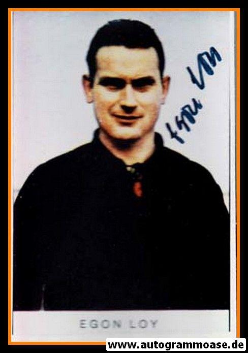 Autogramm Fussball | Eintracht Frankfurt | 1960er Foto | Egon LOY (Portrait Color)