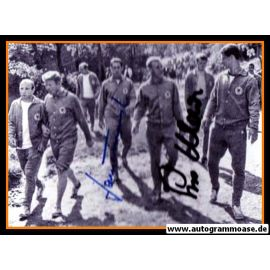 Autogramme Fussball | DFB | 1966 WM Foto | WALDLAUF + 2 AG (Maier, Tilkowski)