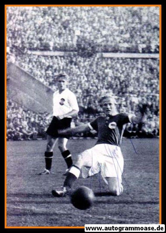 Autogramm Fussball   DFB   1951 Foto   Felix GERRITZEN (Spielszene Österreich) 2