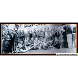Autogramme Fussball | DFB | 1954 WM Foto | 2 AG (BIESINGER + ERHARDT) Ausflug