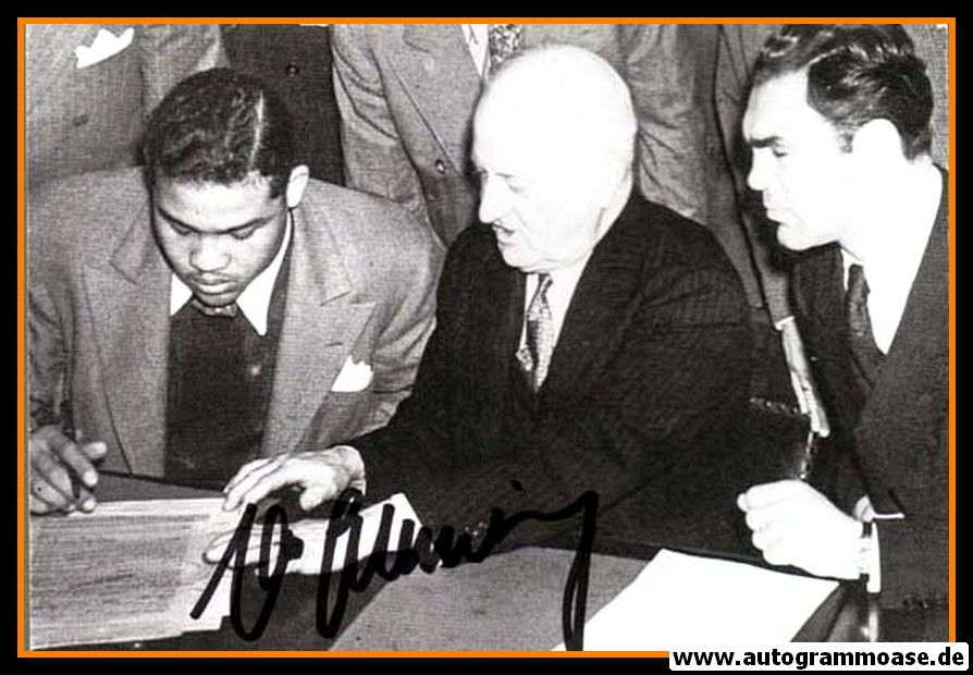Autogramm Boxen   Max SCHMELING   1930er Retro (Joe Louis)