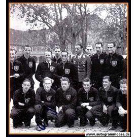 Mannschaftsbild Fussball | DFB | 1942 + Brief / AG Albert SING (Spiel Ungarn)
