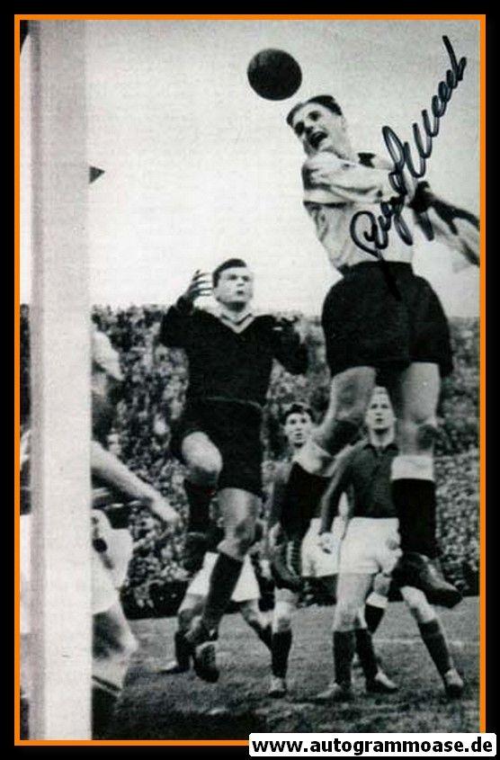 Autogramm Fussball   DFB   1952 Foto   Georg STOLLENWERK (Spielszene Luxemburg) 1