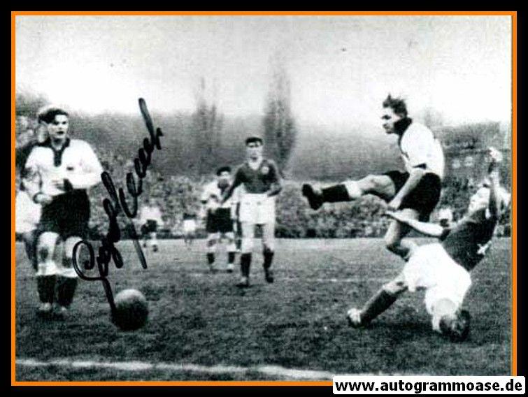 Autogramm Fussball | DFB | 1952 Foto | Georg STOLLENWERK (Spielszene Luxemburg) 2