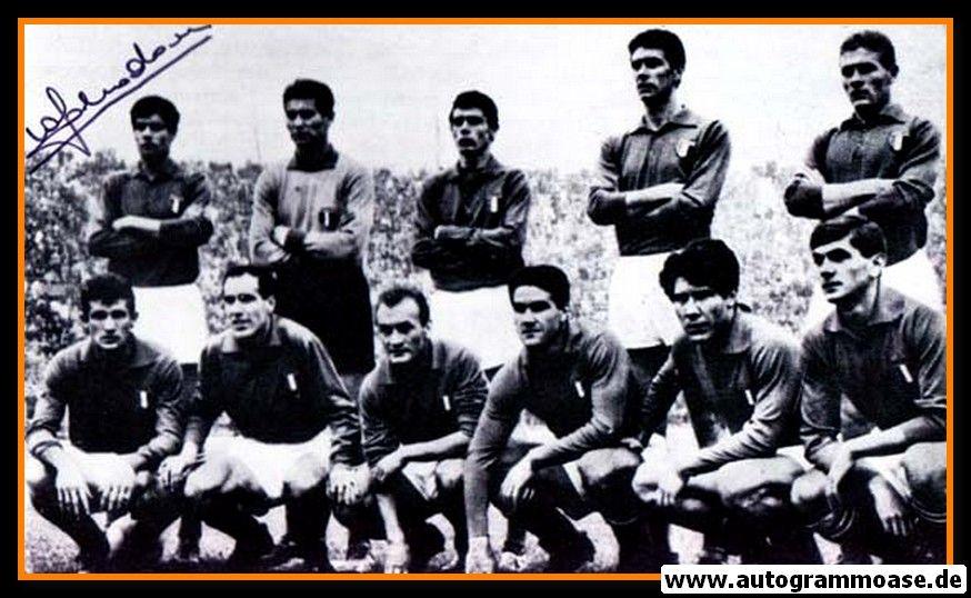 Mannschaftsfoto Fussball   Italien   1962 WM + 2 AG (Gianni RIVERA + Sandro SALVADORE)