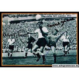 Autogramme Fussball | DFB + Schweden | 1958 WM Foto | ECKEL + ERHARDT + HAMRIN (Spielszene SW)