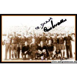 Mannschaftsfoto Fussball | 1. FC Kaiserslautern | 1953 + 4 AG (Eckel, Hölz, Scheffler, O. Walter)
