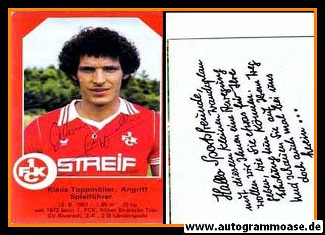 Autogramm Fussball | 1. FC Kaiserslautern | 1979 | Klaus TOPPMÖLLER