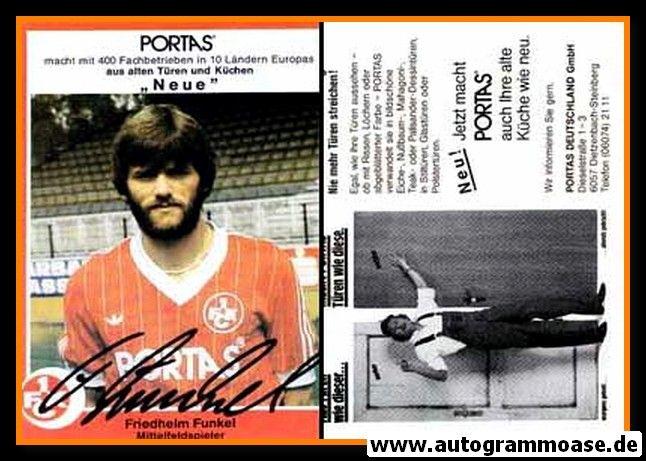 Autogramm Fussball   1. FC Kaiserslautern   1981   Friedhelm FUNKEL