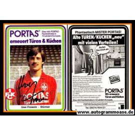 Autogramm Fussball   1. FC Kaiserslautern   1982   Uwe FROWEIN