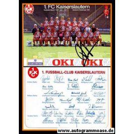Mannschaftskarte Fussball   1. FC Kaiserslautern   1991 + 4 AG
