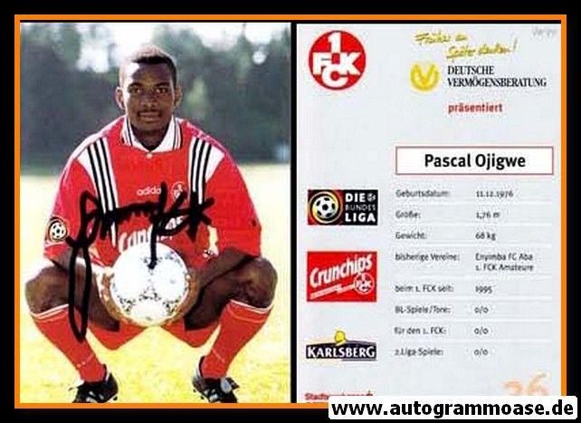 Autogramm Fussball   1. FC Kaiserslautern   1996   Pascal OJIGWE