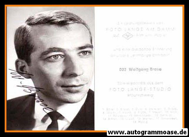 Autogramm Fussball | Eintracht Braunschweig | 1960er | Wolfgang BRASE (Portrait SW) Lange