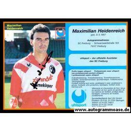 Autogramm Fussball   SC Freiburg   1993-1   Maximilian HEIDENREICH