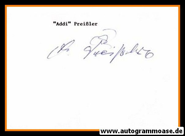 Autograph Fussball | Alfred PREISSLER