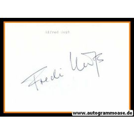 Autograph Fussball   Alfred HEISS