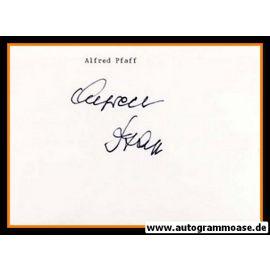 Autograph Fussball | Alfred PFAFF
