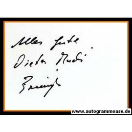 Autograph Fussball | Dieter BRENNINGER