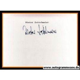 Autograph Fussball   Dieter ZETTELMAIER