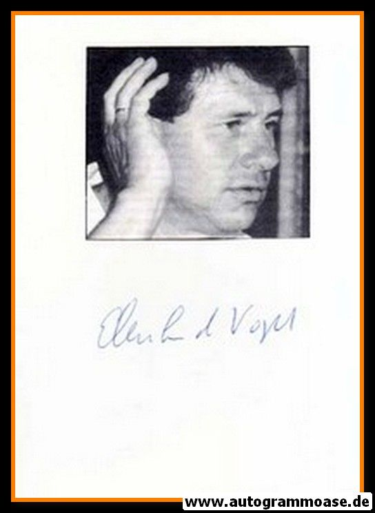 Autograph Fussball | Eberhard VOGEL