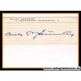 Autograph Fussball | Erich BÄUMLER (DFB 1956)
