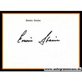 Autograph Fussball | Erwin STEIN