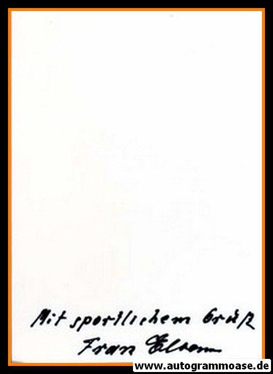 Autograph Fussball   Franz ELBERN (DFB 1930er)