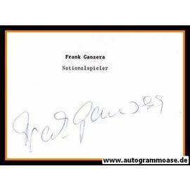 Autograph Fussball | DDR | Frank GANZERA