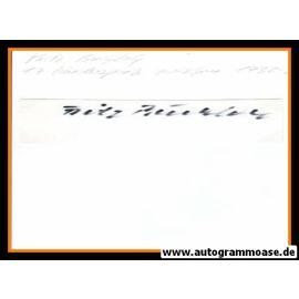 Autograph Fussball | Fritz BUCHLOH (DFB 1930er)
